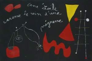 Une Étoile caresse le sein d'une négresse (peinture-poème))